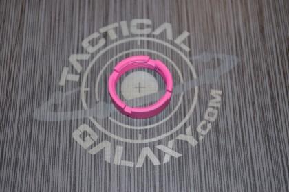 AR15 / AR10 CASTLE NUT FOR BUFFER TUBE 223 / LR 308 PINK CERAKOTE