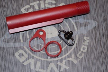 AR15 CRIMSON RED CERAKOTE 3 PC REAR KIT