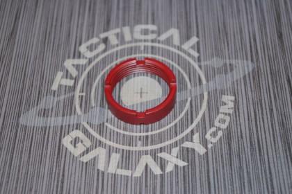 AR15 / AR10 CASTLE NUT FOR BUFFER TUBE 223 / LR 308 CRIMSON RED CERAKOTE