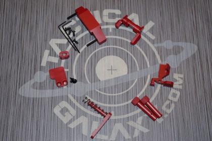 AR15 CRIMSON RED CERAKOTE 6 PIECE ENHANCED LOWER KIT
