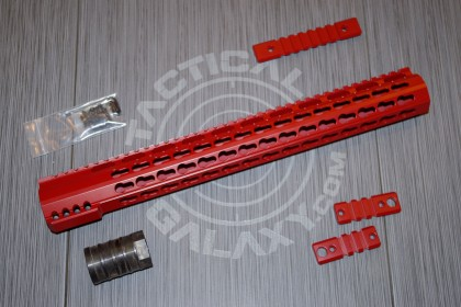 "AR-15 CRIMSON RED CERAKOTE 15"" RAIL ( HANDGUARD )"