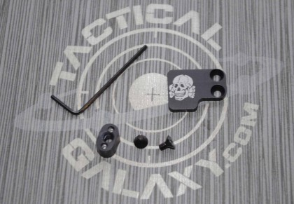 AR-15 2PC Oversized Magazine Extended Release Button - Death Head