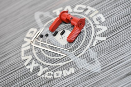 AR15 GEN SAFETY SELECTOR LEVER  CRIMSON RED CERAKOTE