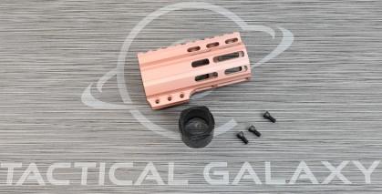 "Tactical Galaxy AR-15 Rose Gold Cerakote 4"" Clamp on Handguard"