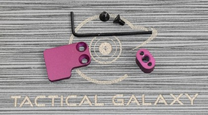 BLACK CHERRY AR-15 2PC Oversized Magazine Extended Release Button