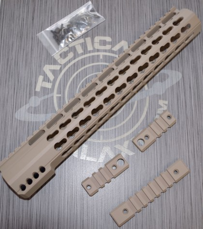 AR15 FDE ULTRA SLIM KEYMOD HAND GUARD 12""