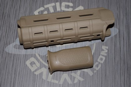 MAGPUL FDE CARBINE FOREARM AND MVG GRIP