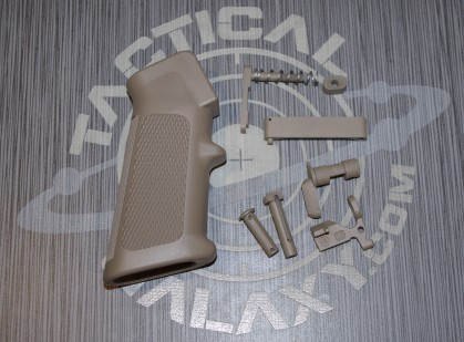 FDE Cerakote OEM 6 pc LOWER RECEIVER PARTS KIT W/ BONUS FREE OEM GRIP