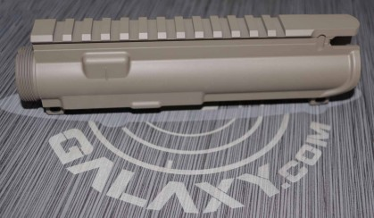 AR-15 stripped upper receiver -FDE cerakote