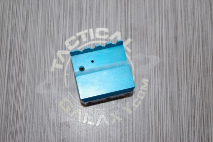 TEAL ANODIZED ADJUSTABLE GAS BLOCK FOR AR-15