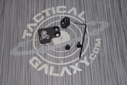 AR-15 2PC Oversized Magazine Extended Release Button - Gas Mask