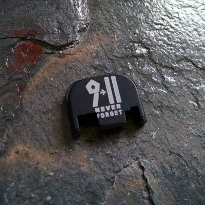 REAR SLIDE COVER PLATE FOR GLOCK - 9.11 Never Forget