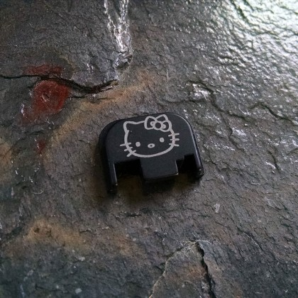 REAR SLIDE COVER PLATE FOR GLOCK - Hello Kitty