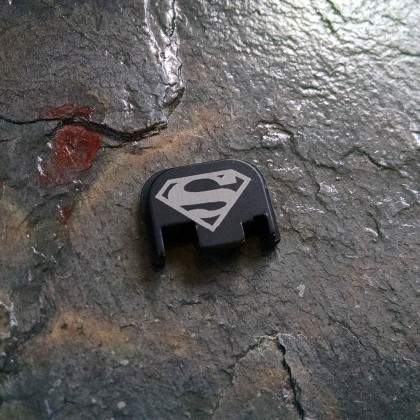 REAR SLIDE COVER PLATE FOR GLOCK - Superman