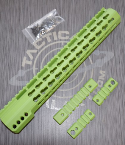 AR15 ZOMBIE GREEN ULTRA SLIM KEYMOD HAND GUARD 12""