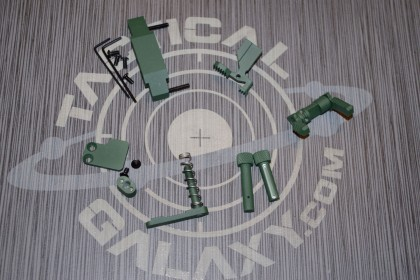 AR15 HIGHLAND GREEN  CERAKOTE 6 PIECE ENHANCED LOWER KIT