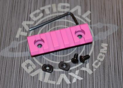 """Pink Cerakote 2 3/8"""" picatinny rail"""