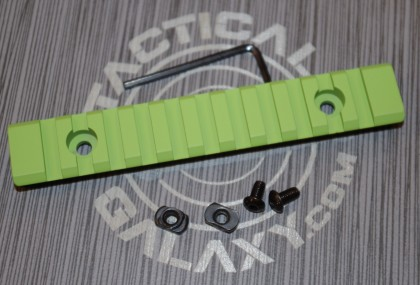 "Zombie green 5"" picatinny rail"