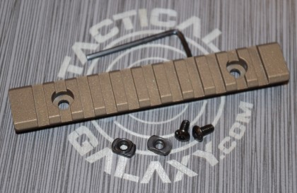 "Burnt Bronze Cerakote 5"" picatinny rail"