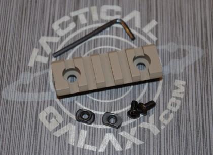 "FDE Flat Dark Earth  2 3/8"" picatinny rail"
