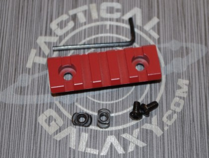 "Crimson Red  2 3/8"" picatinny rail"