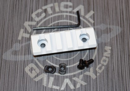 "White  2 3/8"" picatinny rail"