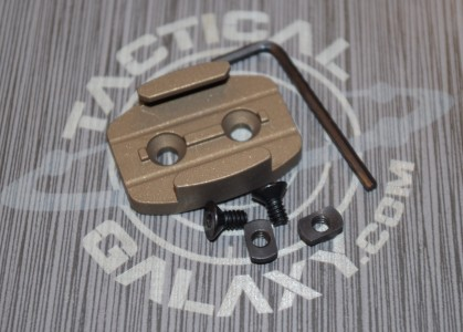 burnt bronze gopro mlok rail mount