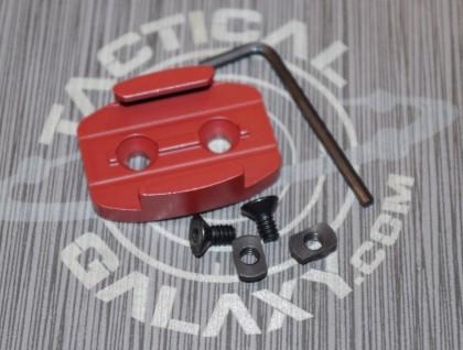 Crimson RED cerakote gopro mlok rail mount