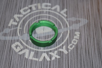 AR15 Green Anodized MilSpec Castle Nut Locking Nut For 223 2