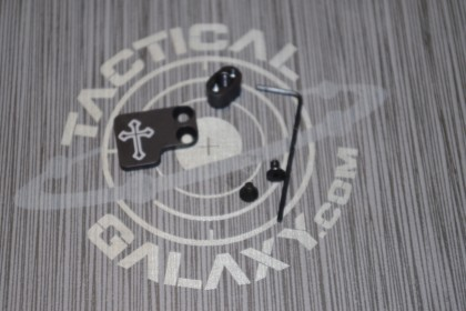 AR-15 2PC Oversized Magazine Extended Release Button - Iron Cross