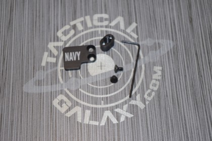 AR-15 2PC Oversized Magazine Extended Release Button - NAVY