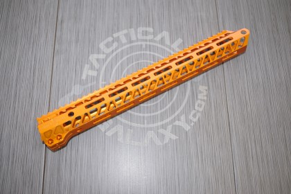 AR15 ORANGE Anodized ENFORCER 15 INCH HAND GUARD RAIL