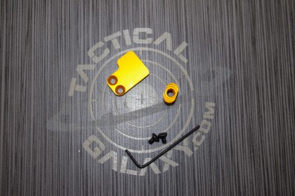 2 PC BUTTON FOR AR15 ORANGE ANODIZED