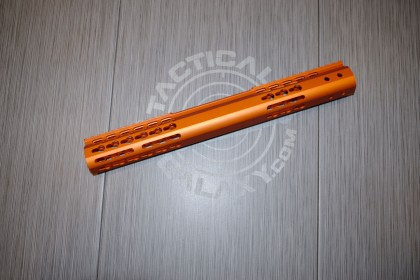 AR-15 ORANGE ANODIZED SLICK SIDE SERIES HANDGUARD 15 INCH