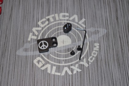 AR-15 2PC Oversized Magazine Extended Release Button - Peace