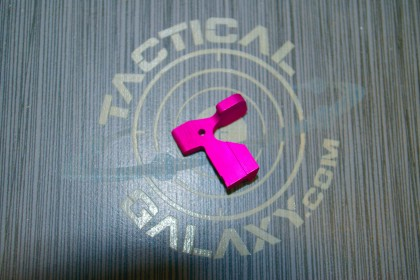 AR15 ENHANCED BOLT CATCH RELEASE LEVER PINK ANODIZED