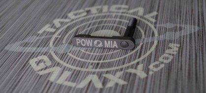 P.O.W. M.I.A. AR-15/M4 LOWER MAGAZINE RELEASE CATCH ( LATCH )  POW-MIA