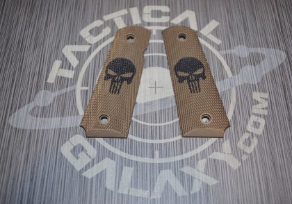 1911 BURNT BRONZE CERAKOTE PUNISHER GRIPS