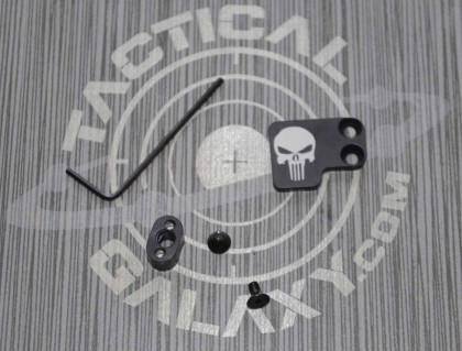 AR-15 2PC Oversized Magazine Extended Release Button - Punisher