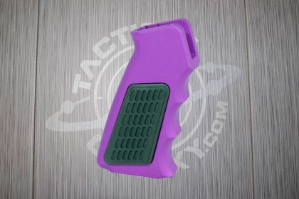 Purple Anodized AR15 Aluminum Pistol Grip With Rubber Insert