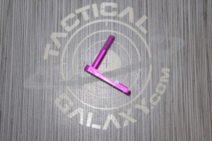 AR-15 BLOOD MOON PURPLE ANODIZED MAG CATCH LATCH With Custom Text or Logo.