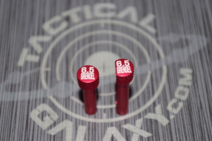 RED Anodized 6.5 GRENDEL AR-15 Extended Takedown Pins