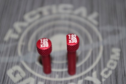 RED Anodized 7.62 x 39 AR-15 Extended Takedown Pins