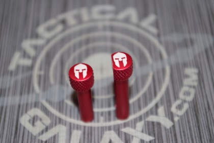RED Anodized SPARTAN HELMET AR-15 Extended Takedown Pins