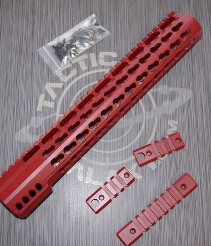 AR15 CRIMSON RED ULTRA SLIM KEYMOD HAND GUARD 12""