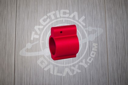 AR-15 RED ANODIZED LOW PROFILE GAS BLOCK