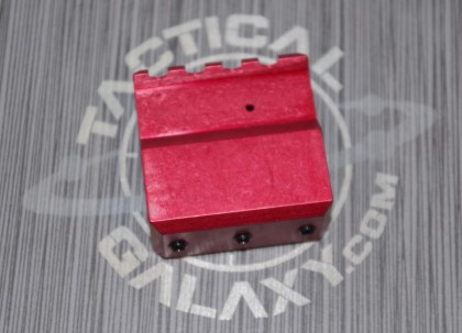 AR15 RED ANODIZE ADJUSTABLE GAS BLOCK