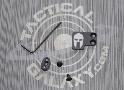 AR-15 2PC Oversized Magazine Extended Release Button - Spartan Helmet