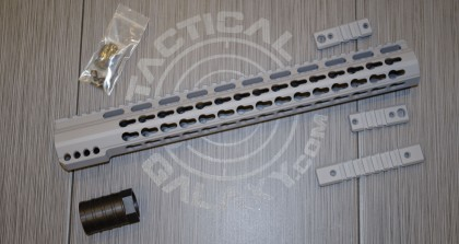 STEEL GREY   15 inch  handguard 2