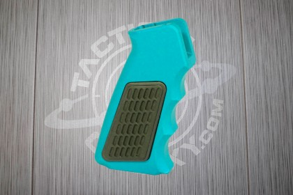 Teal Anodized AR15 Aluminum Pistol Grip With Rubber Insert